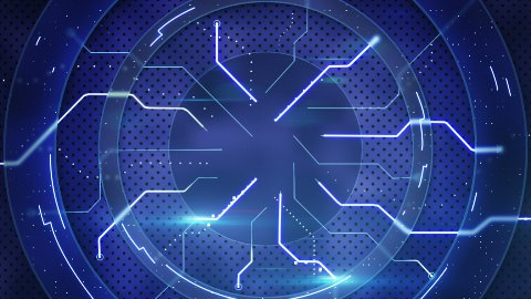 blue hi-tech abstract loopable background - stock footage