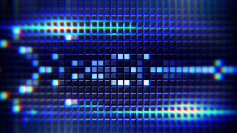 blue lights and tiles loop background - stock footage