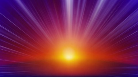orange blue rays of light loop background - stock footage