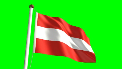Austria flag - stock footage
