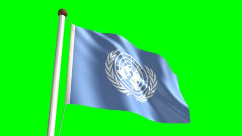United Nations flag - stock footage