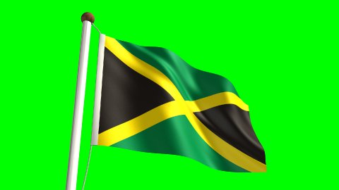 Jamaica flag - stock footage