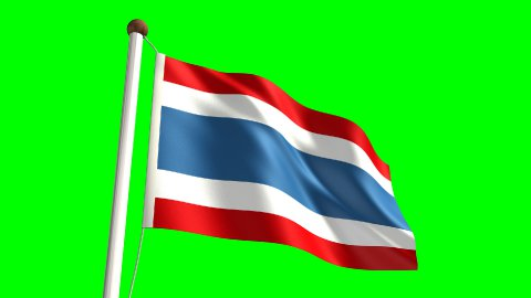 Thailand flag - stock footage