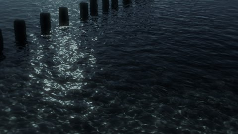 Moon Shore Background - stock footage