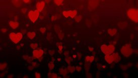 Falling Hearts - editable clip, motion graphic, stock footage