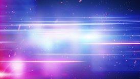 blue red light and glowing particles loop background - motion graphic