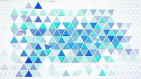 blue triangles geometric background loop - motion graphic