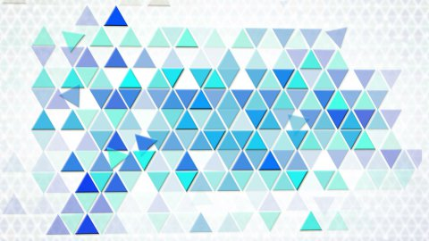 blue triangles geometric background loop - stock footage