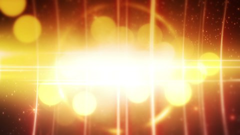 yellow glowing circles loopable background - stock footage