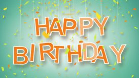 happy birthday greeting loop - motion graphic