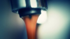 coffee machine pouring espresso extremely close-up - motion graphic