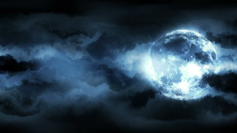 Dramatic Moon - stock footage