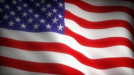Flag of USA - motion graphic