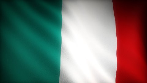 Flag of Italy - stock footage