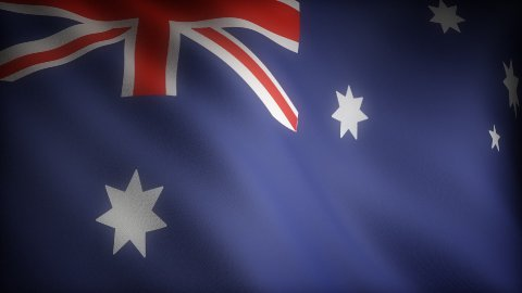 Flag of Australian - stock footage