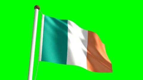 Ireland flag - stock footage