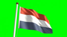Netherlands flag - motion graphic