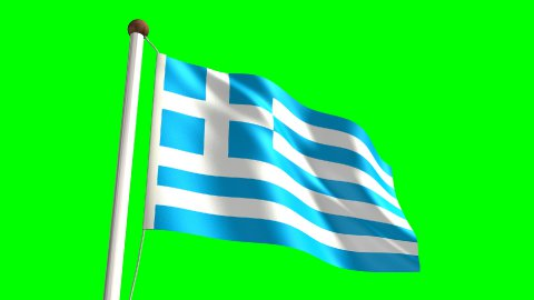 Greece flag - stock footage