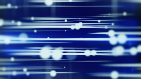 lines and blurred circles blue loop background - stock footage