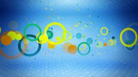colorful circles on blue loop - motion graphic