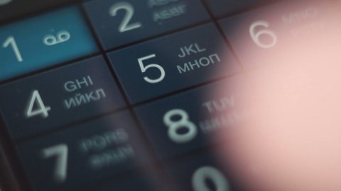 closeup dialing on smartphone, radiophone and cellphone - stock footage