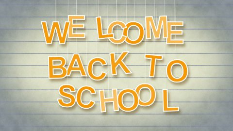 welcome back to school with luma matte - stock footage