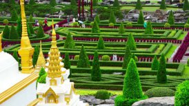 Nong Nooch tropical garden in Thailand - motion graphic