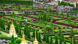 Nong Nooch tropical botanical garden in Thailand - motion graphic