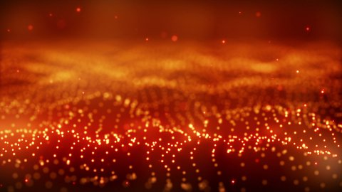 red glow particle field loop - stock footage
