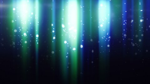 blue particles flying in light beams loop - stock footage