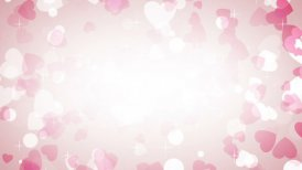 pink hearts frame loop background - motion graphic