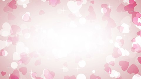 pink hearts frame loop background - stock footage
