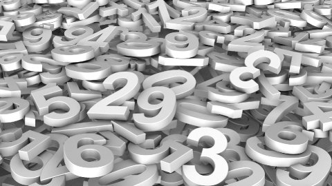 Digits Fly over - Loop - stock footage