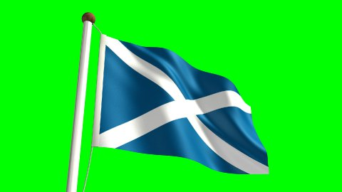 Scotland flag  - stock footage