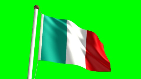 Italy flag - stock footage