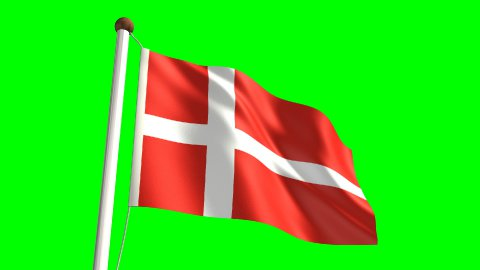 Denmark flag - stock footage