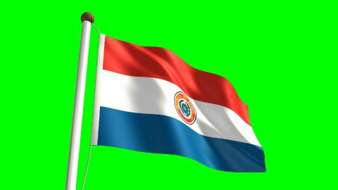 Paraguay flag - stock footage