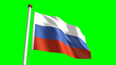 Russia flag - stock footage