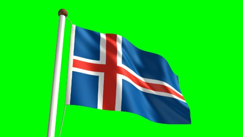 Iceland flag - stock footage