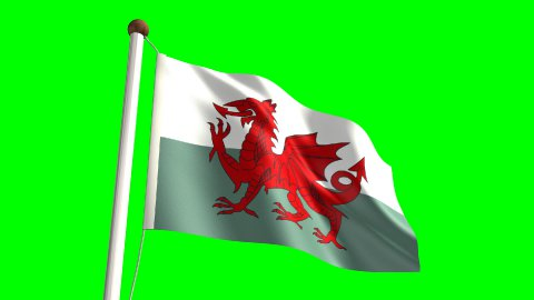 Wales flag - stock footage