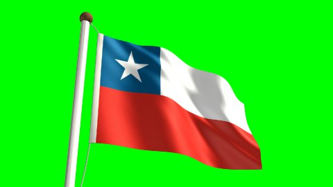 Chile flag - stock footage