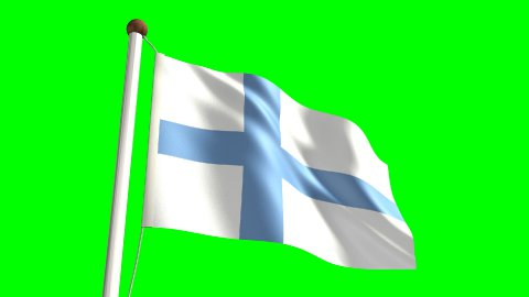 Finland flag - stock footage