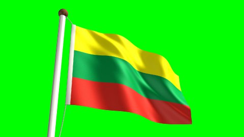 Lithuania flag - stock footage
