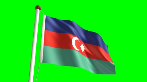 Azerbaijan flag - stock footage