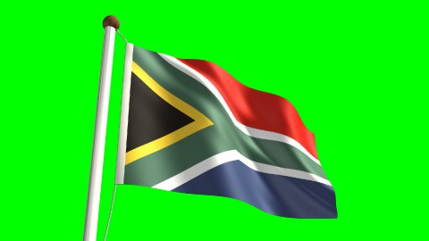 South Africa flag - stock footage
