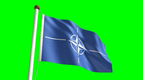 Nato flag - stock footage