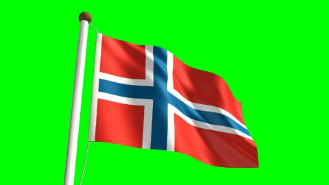 Norway flag - stock footage