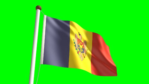 Moldova flag - stock footage