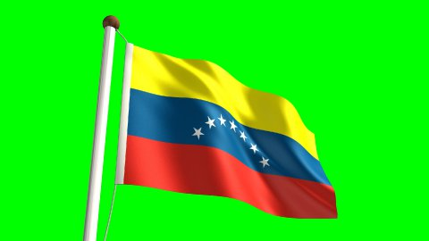 Venezuela flag - stock footage