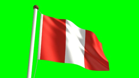 Peru flag - stock footage